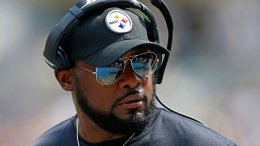 Pittsburgh Steelers head coach Mike Tomlin stands on the sideline during the first half of an NFL football game against the Minnesota Vikings in Pittsburgh, Sunday, Sept. 17, 2017. (AP)