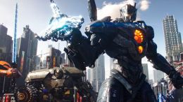 """This image released by Universal Pictures shows a scene from """"Pacific Rim Uprising."""" (Legendary Pictures/Universal Pictures via AP)"""