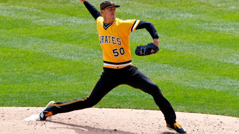 Pittsburgh Pirates starting pitcher Jameson Taillon delivers in the fifth inning of the team's baseball game against the Cincinnati Reds in Pittsburgh, Sunday, April 8, 2018. Taillon threw a complete game, one-hit shutout with the Pirates winning 5-0. (AP)