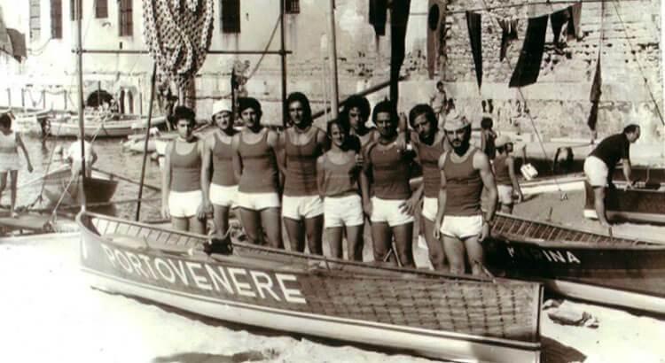 Borgata di Portovenere: the racing team in the Palio of the Gulf
