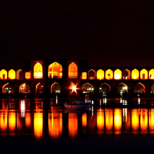 Khaju Bridge, Iran - one of the most beautiful places in the world