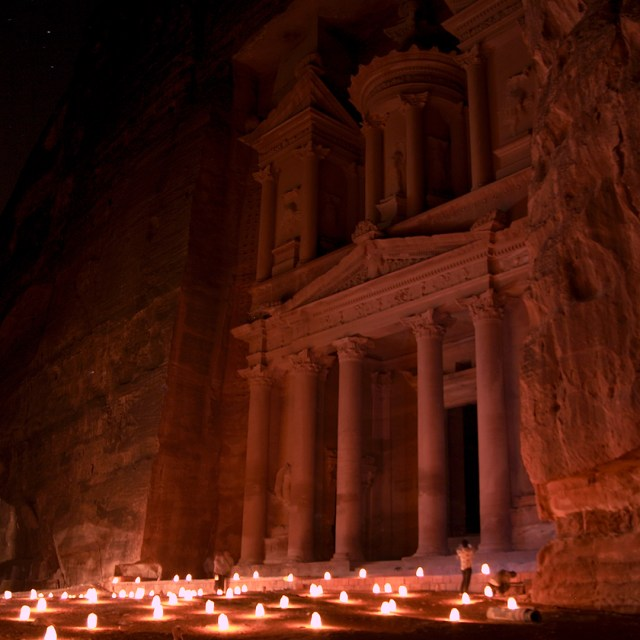 The Petra Treasury - one of the most beautiful places in the world