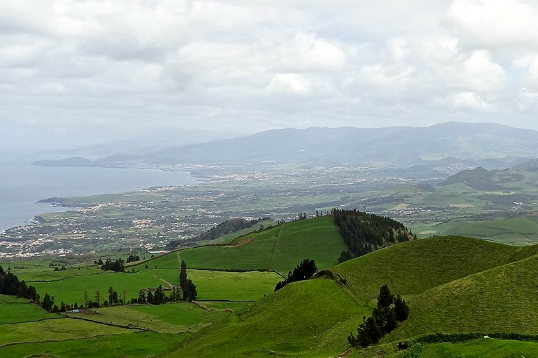 View of Ponta Delgada from high on the hill
