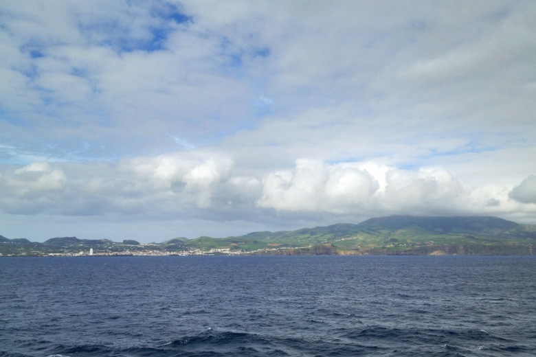 The island of Sao Miguel from the water