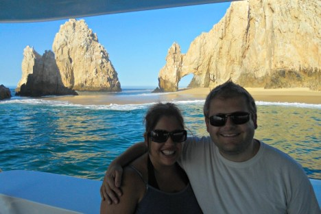 Andy and I are the Arch of Cabo San Lucas!