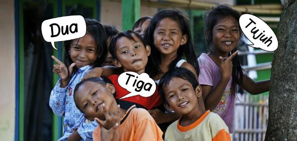 indonesian language angka