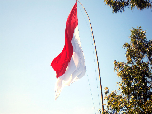 red and white flag