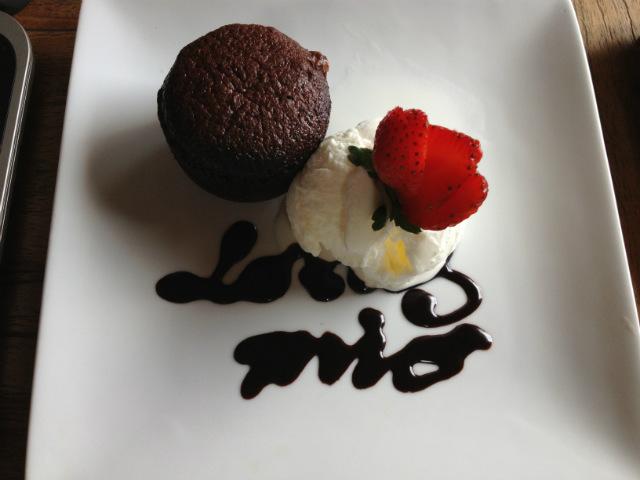chocolate lava cake lotus mio