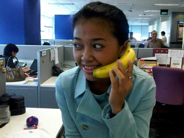 answering phone