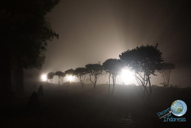 Borobudur park at late night