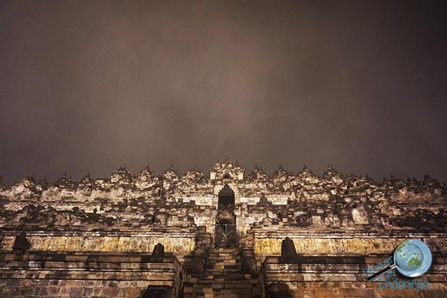 Borobudur temple midnight