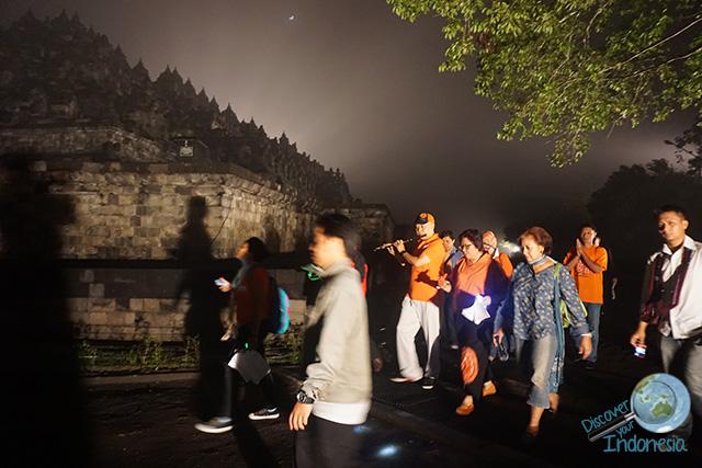 Hary Wisnu team at Borobudur