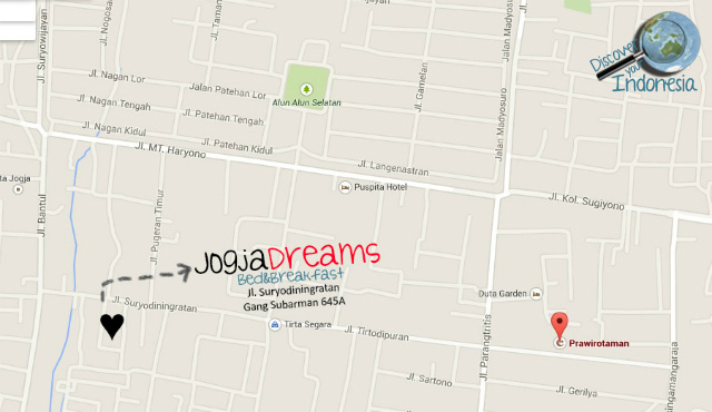 Map location JogjaDreams