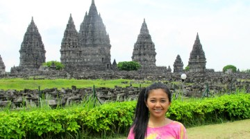 firsta at Prambanan Hindu temple Yogya