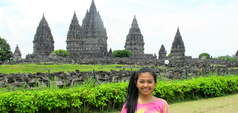firsta at Prambanan Hindu temple Yogya