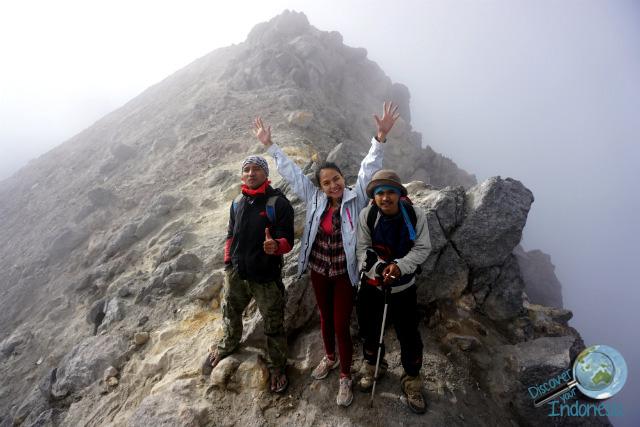 the top of merapi volcano