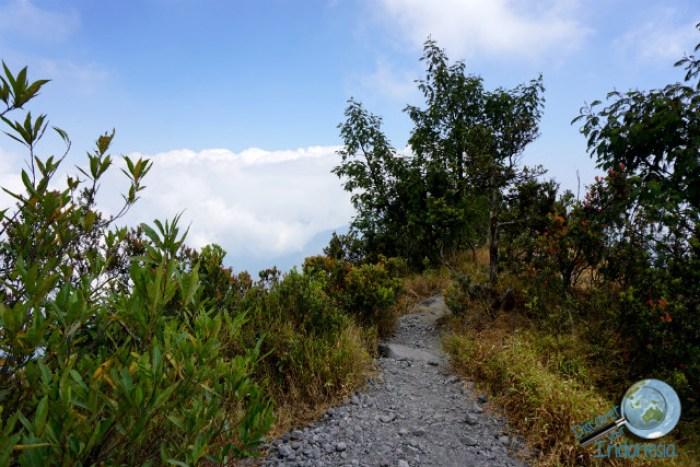 trekking to merapi volcano