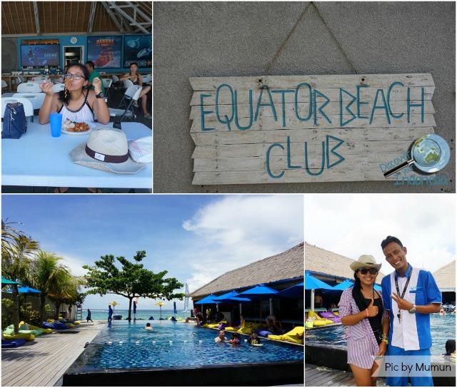buffet lunch equator beach club