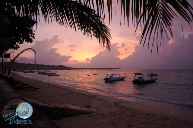 sunset by the beach of Lembongan
