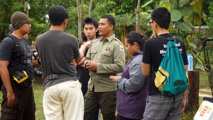 discussion at Flying squad camp