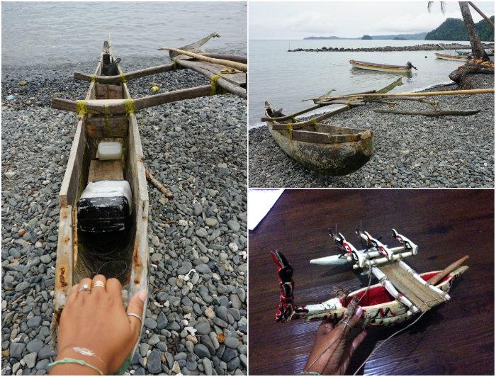 traditional fishing boat papua
