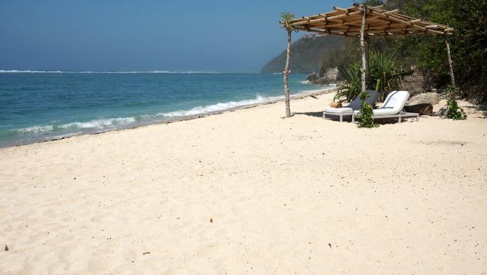 private beach of nusa dua
