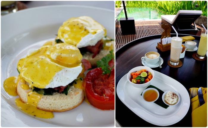 Breakfast at villa in Bali