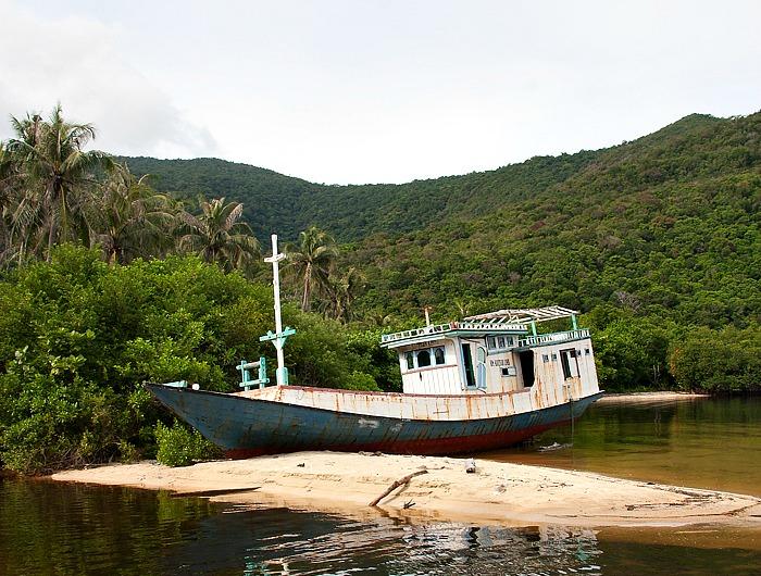 Shipwreck Karimunjawa island
