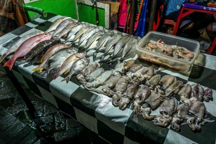Fish night market at Labuan Bajo