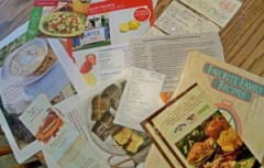 scattered recipes, your family recipes, online family cookbook