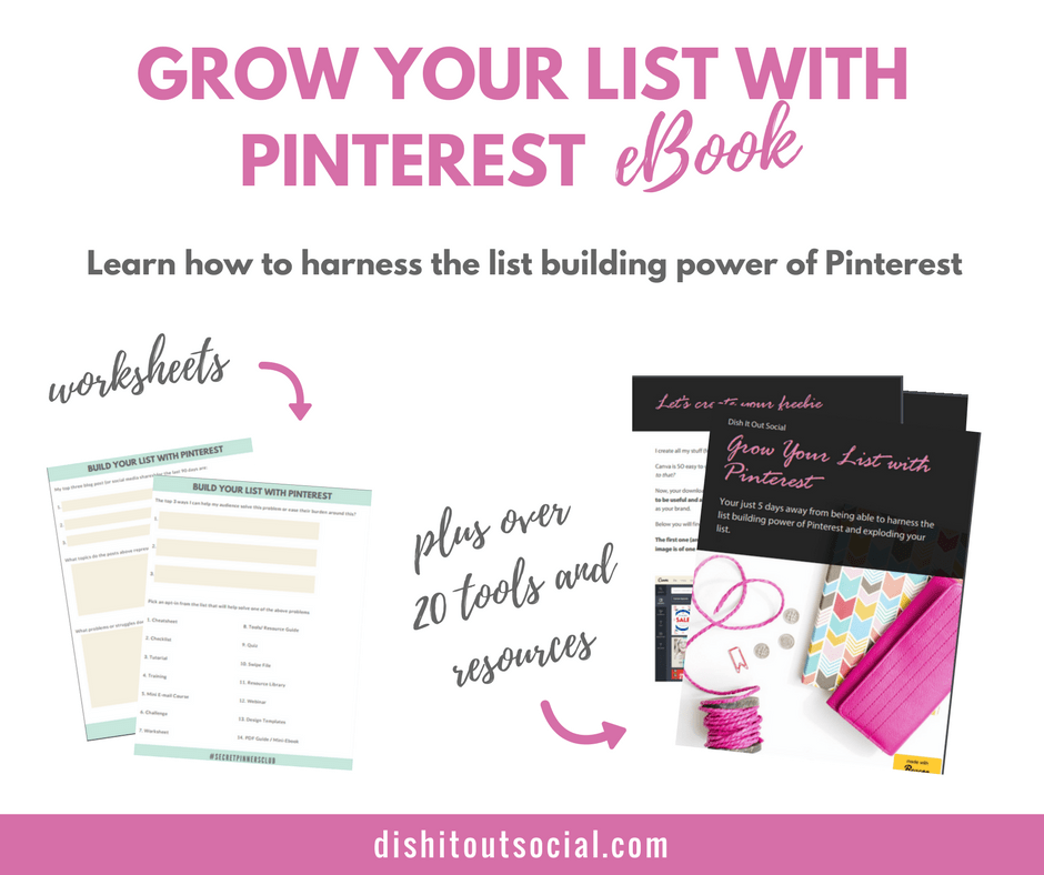 My brand new ebook will show you how to quickly build your email list with Pinterest.