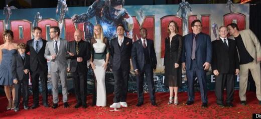 Marvels Iron Man 3 Premiere Cast Group Photo