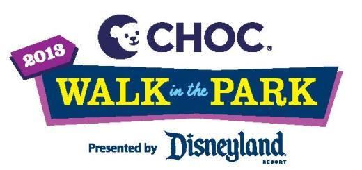 2013 Choc Walk In The Park Logo Disneyland Resort