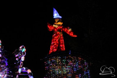 Mickey Mouse in Disneyland's Paint the Night Parade.