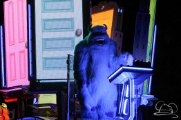 Sully in the front of the Monsters Inc. unit in Disneyland's Paint the Night Parade.