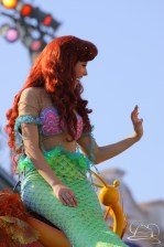 Ariel continues to delight fans of Mickey's Soundsational Parade at Disneyland.