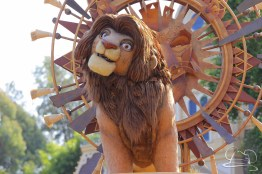 The Lion King himself, Simba in Mickey's Soundsational Parade.