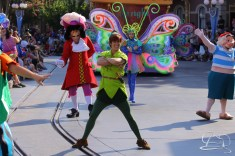 Peter Pan battles pirates in Mickey's Soundsational Parade.