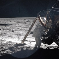 Only photograph of Neil Armstrong on the moon