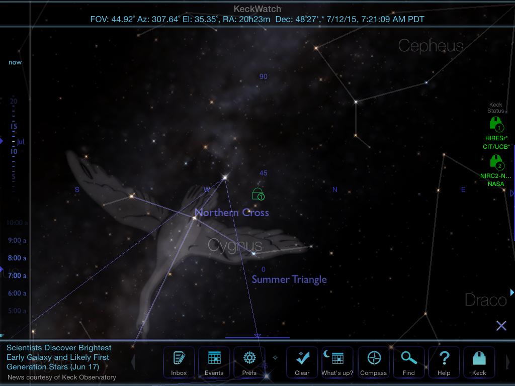 Distant Suns keckWatch screenshot