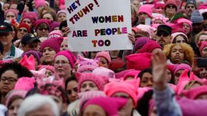 pussyhat protest 1