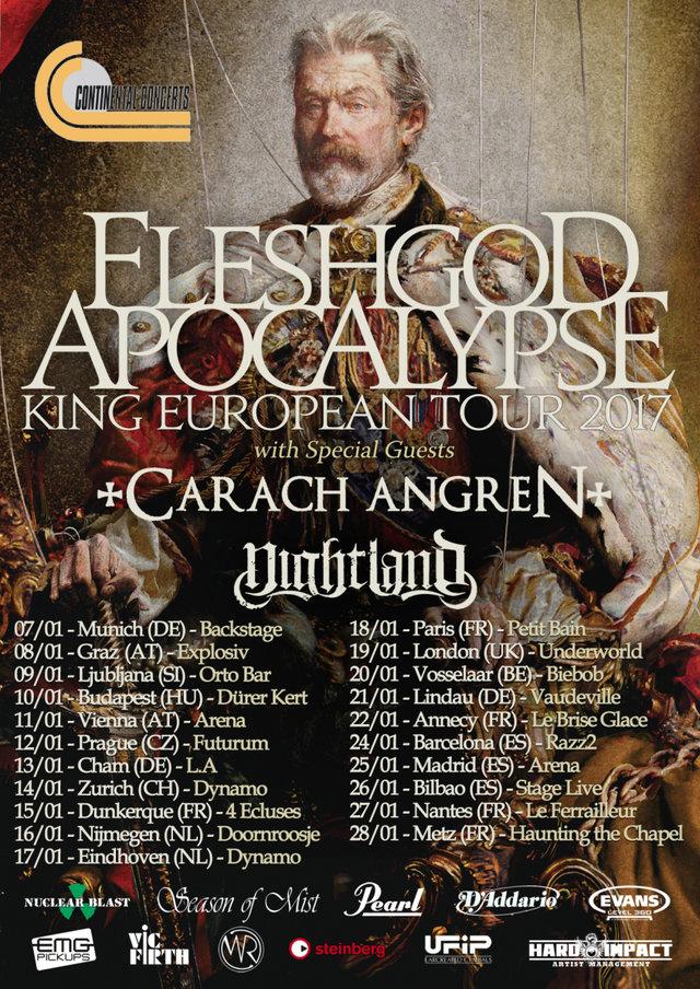 Fleshgod Apocalypse EU tour 2017