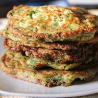 Spinach and Chia Pancakes (coconut flour)