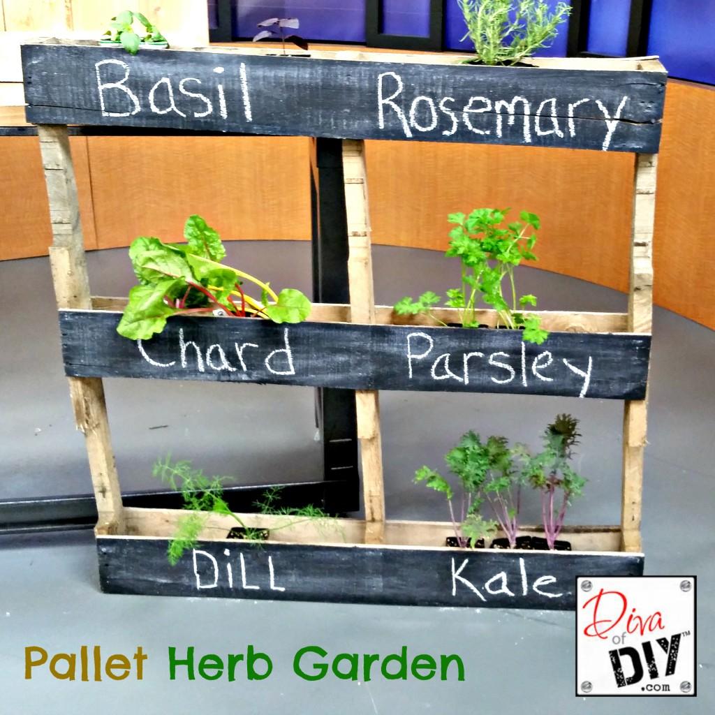 Mesmerizing Your Outside Garden How To Make An Easy Pallet Garden Diy Herb Planter Diy Herb Planter A Quick Easy Diy Pallet Garden Idea garden Diy Herb Gardens