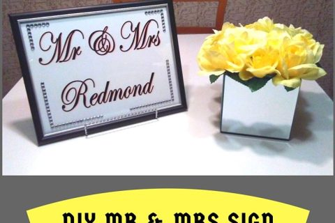 DIY Mr & Mrs Sign