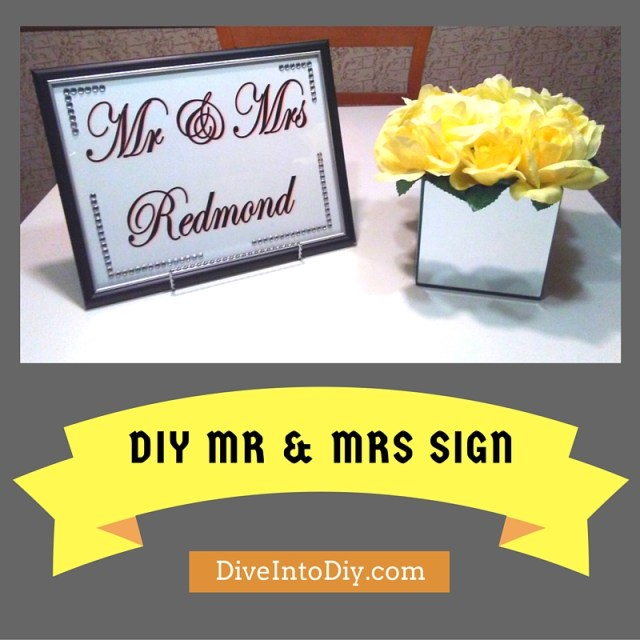 diy mr and mrs sign craft project dollar tree easy