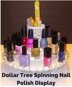 Diy spinning lazy susan nail polish display home decor organizer craft project 3