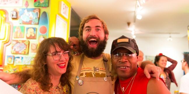 Kaleel, Rolnik, and visitor Tyrone