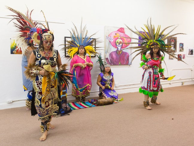 Aztec dancers at Gallery H's Day of the Dead Celebration - Photo: Jack Burke