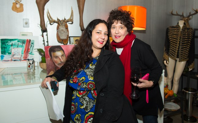 Curator Mishelle Moross, and artist Lena Moross